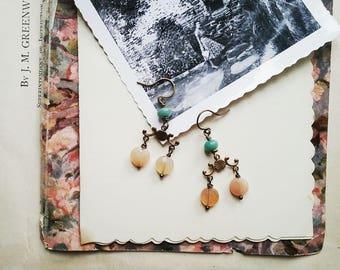 Boho en perles pendantes boucles d'oreilles, boucles d'oreilles colorées, bijoux de Style Vintage pour les femmes