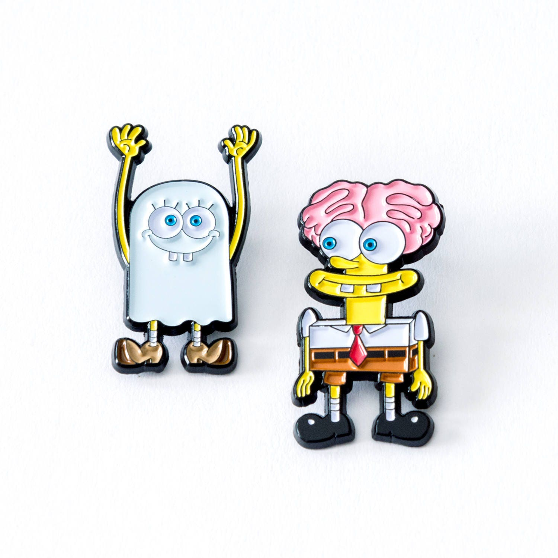 Halloween Spongebob pin set Spongebob pin soft enamel