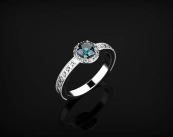 Alexandrite Engagement Ring White Gold Engagement Ring Alexandrite Ring Alexandrite Gold White Gold Alexandrite Ring