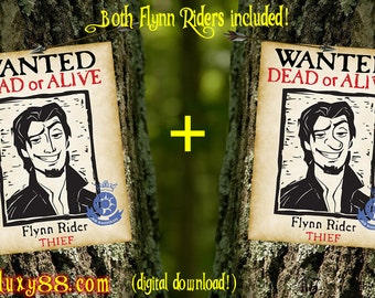 Tangled Flyers - Flynn Rider Wanted Flyers Digital download