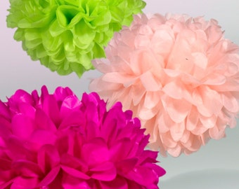 Tissue Paper Pom Poms - Set of 3 - Birthday's Decor//Nursery//Parties Decor//Princess Decor//Decorations