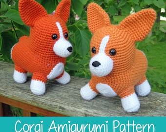 Crochet Pattern: Corgi Amigurumi Pattern PDF Instant Download