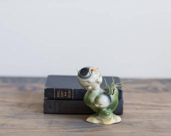 Duck Planter, Vintage Planter, Green Planter, Blue Planter, Mid Century, Shelf Decor, Nursery Accessories, Air Plant Planter, Shower Gift