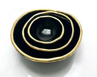 Catchall bowls-Black Gold Jewelry Nesting Bowls (Nidum)