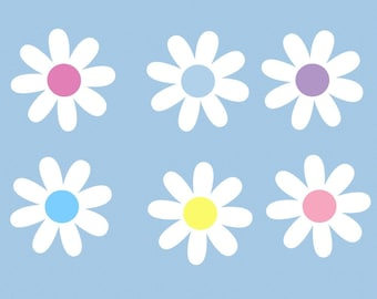 Daisy Flower Children Wall Decal Sticker
