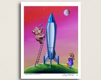 The Moon Mission - houston we are ready to go...almost - Limited Edition Signed 8x10 Semi Gloss Print (5/10)