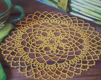 Tatted doily pattern in the Moje Robótki magazine (4/2018)