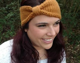 Knit Earwarmer   Tunisian Crochet Headband
