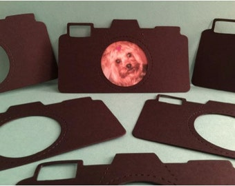 Camera Photo Frame Die Cuts! Set of 10 in Heavier Black Card Stock!  Great For Scrapbooking and All Kinds of Projects!