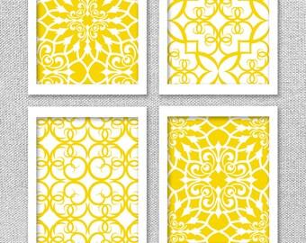 PRINTABLE Art, Yellow Art, INSTANT DOWNLOAD Art, Digital Wall Art, 8x10, Printable Art Set, Printable Wall Art, Digital Art Prints