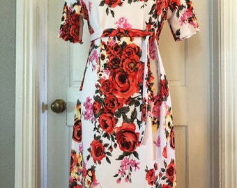 Size S custom length women's knit dress