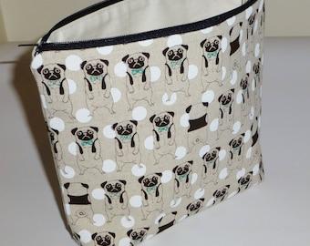Pug Makeup Bag, Pug Toiletries Bag, Pug Make Up Bag, Pug Cosmetics Bag, Pug Bag, Gift for Pug Lovers, Pug Dog Makeup Bags, Pugs Makeup Bag