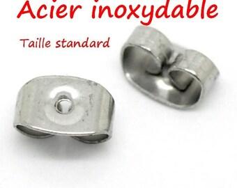 100 blockers stainless steel earrings