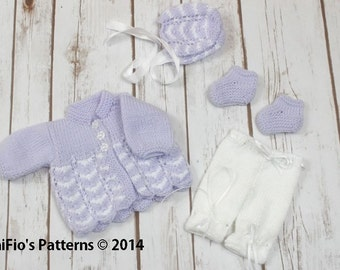 """KNITTING PATTERN For Waves Jacket, Trousers, Hat & Shoes in 2 Sizes 10-16"""" PDF 75"""