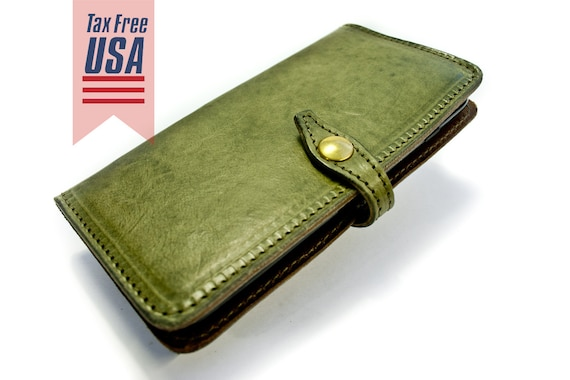 """iPhone Leather Case Flip Wallet Bifold Style for iPhone 6S 4.7"""" or 6S PLUS iPhone 5S iPhone 5 CHOOSE Device and Color"""