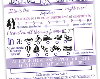 "Wedding ""Mad Libs""/Fill in the Blank Cards"