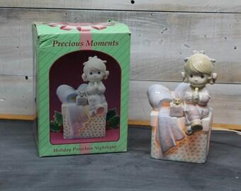 Enesco Precious Moments Holiday Porcelain Night Light