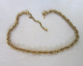 Designer Signed Monet Thick Triple Link Chain Necklace