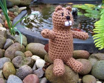Beaver Crocheted Stuffed Animal Toy