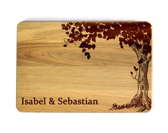 Personalized Wedding Gift Wedding Cutting board Personalized Cutting Board Wedding Family tree Custom cutting board Gift for couple