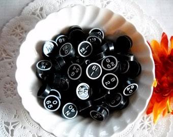 Black & White Bingo Game Pieces / Lot of 20