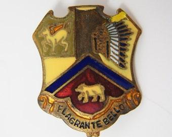 Vintage Flagrante Bello Military Tie Tack Lapel Pin