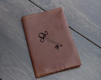 Passport Cover, Personalized Passport Holder, Passport Wallet, Wedding Gift, Husband Gift, Travel Gift, Leather Passport Cover