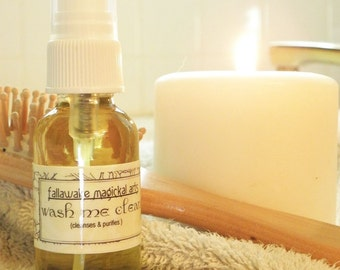 Wash Me Clean Mist Smokeless Smudge for Detox, Removing Negative Energy, Purification, Addiction