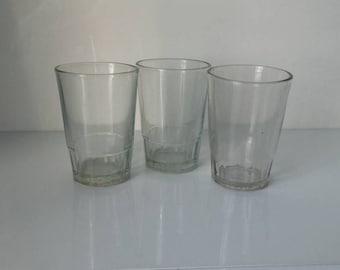 Lot of 3 vintage glasses USSR, vintage cups, vintage mugs, faceted glass, vintage faceted glass, glass USSR, old mugs, vintage kitchenware