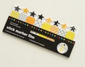 Transparent Stick and Memo  - 120 sheets -  Stars