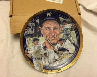 Hamilton collection The legendary Lou Gehrig best of baseball collector plates, In box