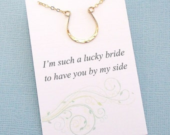 Bridesmaid Gift | Bridesmaid Proposal, Horse Necklace, Boho Rustic Wedding Jewelry, Bridesmaid Necklace, Maid of Honor Gifts, Bridal | B03