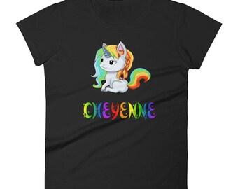 Cheyenne Unicorn Ladies T-Shirt