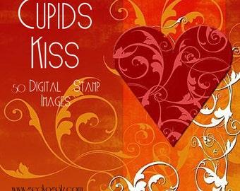 CUPIDS KISS digital stamp set