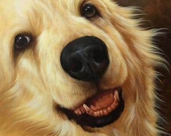 Pet Portrait. Pet Custom Portrait. Dog Custom Oil Portrait. Dog custom painting. Dog custom painting. Oil painting.Commission dog portrait.