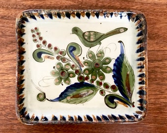 "Signed Ken Edwards Pottery Tray Tonala Mexico ""Collection"" Series Vintage MCM Mid Century"