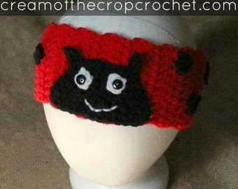 Ladybug Ear Warmers | Crochet Pattern | Crochet Lady Bug Ear Warmers Pattern | Crochet Ear Warmers | Ear Warmers Teens/Adult | PDF Pattern