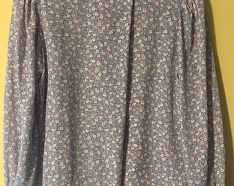 Vintage Pastel Floral Patterned Blouse by prophecy