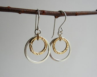 Gold and Silver Arianrhod III Earrings