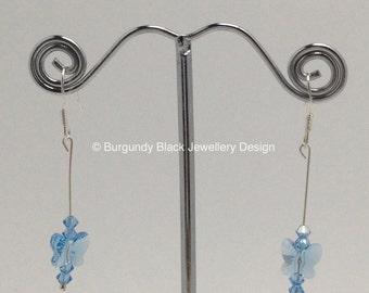 Swarovski Crystal Butterfly earrings