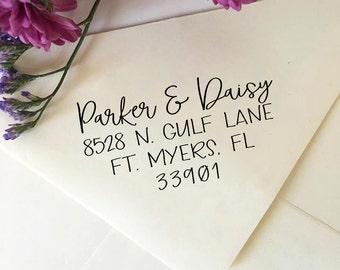 Custom Address Stamp, Wedding Return Address Stamp, Self Inking Stamp, Eco Rubber Stamp, Personalized Gift, Newlywed Gift