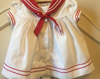 Sz 9 mo Sailor Dress