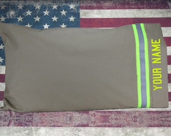 Firefighter Station TAN Pillow Case