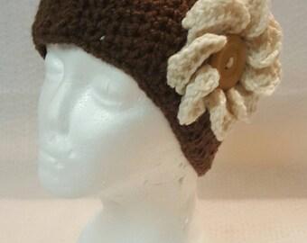 Flower Ear Warmer, Winter Headband, Crochet Headband, Ear Warmer