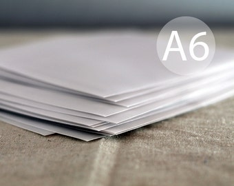 "25 4x6 Translucent Envelopes - A6 Size Vellum Envelopes / A6 Size Envelopes - (true size 4 3/4"" x 6 1/2"")"