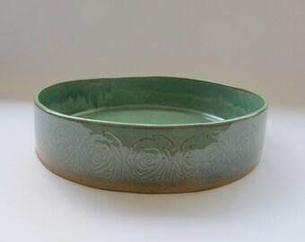Ceramic Large serving Bowl, baking Dish, Serving ceramic bowl, ceramic salad Dish, textured ceramic bowl, hostess gift, Large serving dish