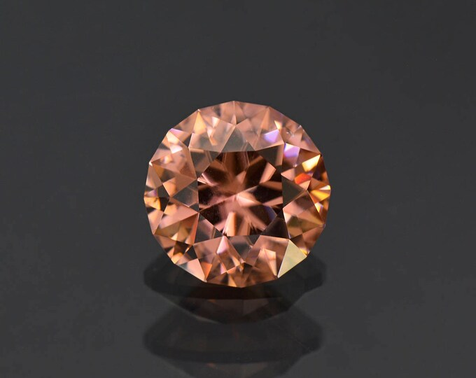 Exquisite Precision Cut Peach Zircon Gemstone from Tanzania 8.59 cts.