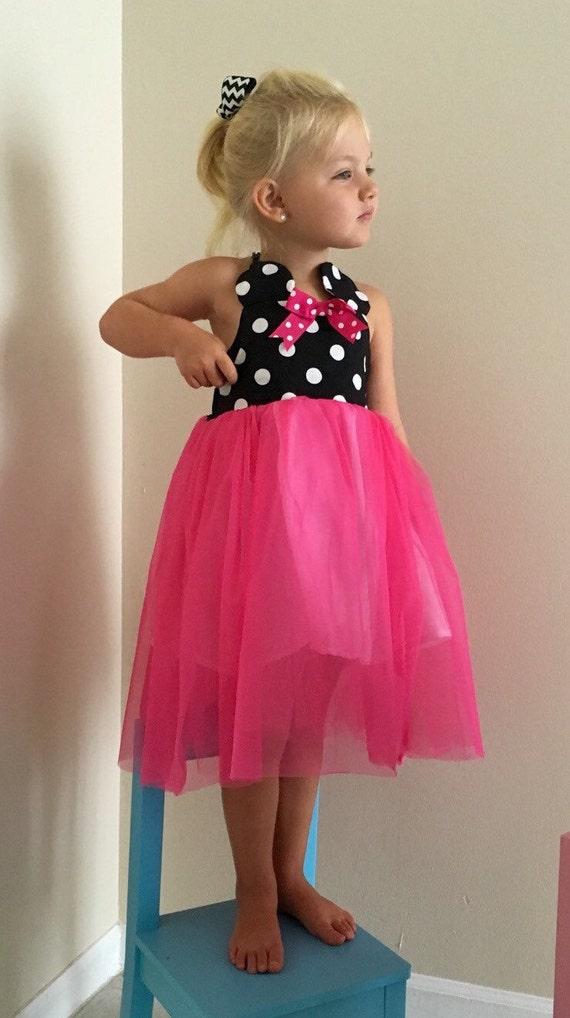 Minnie Mouse princesa Disney inspirado twirly hadas vestido