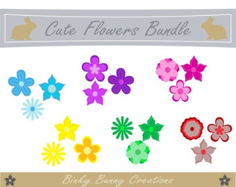 Flowers Clip Art Clipart Discounted Bundle 60 Images Plant Garden Spring Summer GraphicsImages Card Making Scrapbooking Invitations