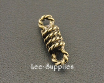 20pcs Antique Bronze Alloy Rope Connector Charms A1301